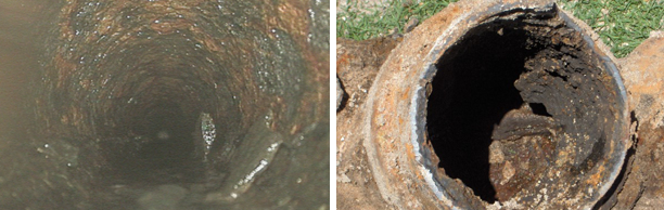aging iron sewer pipes in Merritt Island, Florida